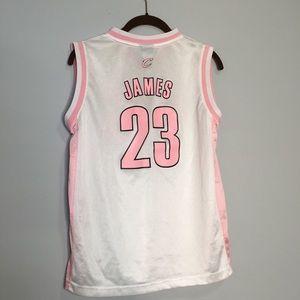 LEBRON JAMES LARGE 14 pink jersey girls cavaliers